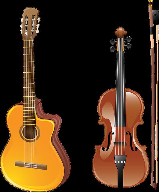 Hudobné nástroje III – príklady